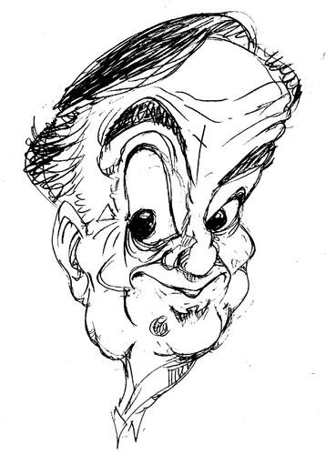 Cartoon: Bob Monkhouse (medium) by Andyp57 tagged caricature,ink,andy57