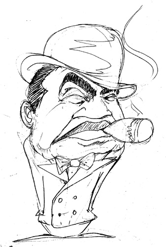Cartoon: Edward G Robinson (medium) by Andyp57 tagged caricature,pen