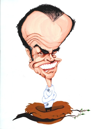 Cartoon: Jack Nicholson (medium) by Andyp57 tagged caricature,gouache