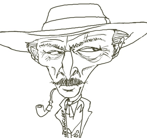 Cartoon: Lee Van Cleef (medium) by Andyp57 tagged caricature,wacom,painter