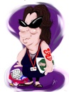 Cartoon: Heather J (small) by Andyp57 tagged caricature,ipad