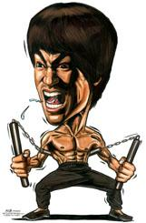 Cartoon: Caricature of Bruce Lee (medium) by jit tagged caricature,bruce,lee,