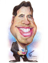 Cartoon: John Travolta (small) by besikdug tagged john,travolta,besik,dug,cartoon,karikatura,usa,holliwood,dugashvili