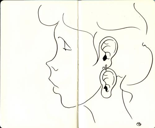 Cartoon: Ear earring (medium) by freekhand tagged ear,earring,jewels