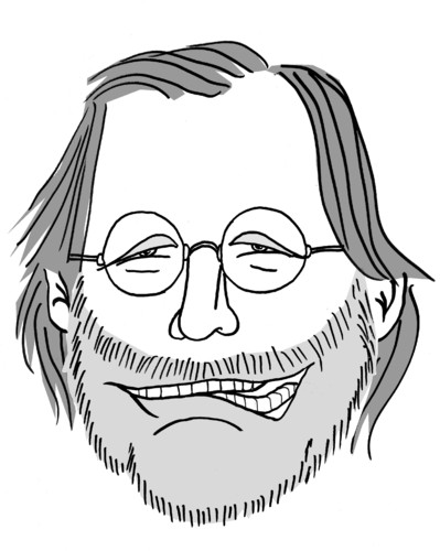 Cartoon: Harald Schmidt (medium) by Eliasbeth Hauck tagged harald,schmidt,karikatur