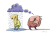 Cartoon: Thought-cloud (small) by Alex Skibelsky tagged badly,thought,cloud,negative,malice,rain,think,evil,unhappy,victim,wet