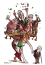 Cartoon: Italian government (small) by matteo bertelli tagged berlusconi,italian,goverment,crisis