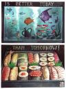 Cartoon: Today (small) by matteo bertelli tagged sushi,illustration