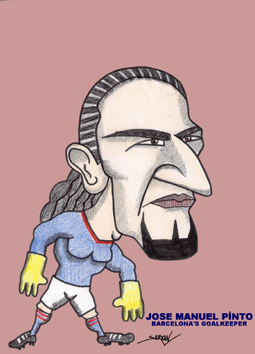 Cartoon: JOSE MANUEL PINTO (medium) by serkan surek tagged surekcartoons