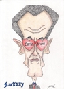 Cartoon: SARKOZY (small) by serkan surek tagged surekcartoons