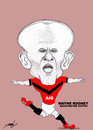 Cartoon: WAYNE ROONEY (small) by serkan surek tagged surekcartoons