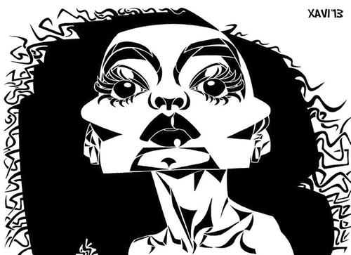 Cartoon: Diana Ross (medium) by Xavi Caricatura tagged diana,ross,music,caricature,cartoon