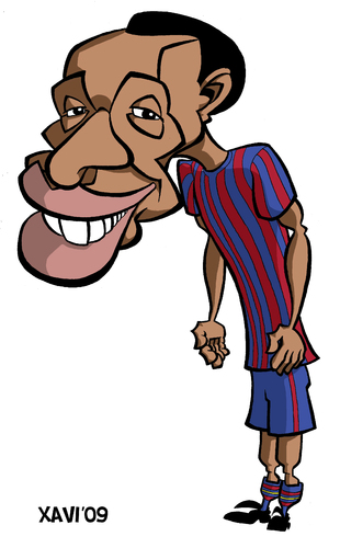 Cartoon: FC Barcelona 2010 Henry (medium) by Xavi Caricatura tagged henry,thierry,caricature,caricatura,fcb,barcelona,football,futbol,fc barcelona 2010,fußball,sport,sportler,fußballer,karikatur,karikaturen,fc,barcelona,2010,thierry henry,thierry,henry