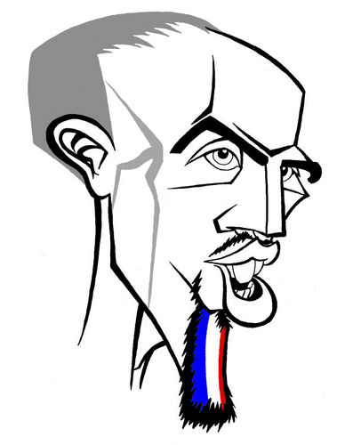 Cartoon: Franck Ribery (medium) by Xavi Caricatura tagged france,soccer,football,euro2008,ribery,franck,munchen,bayern,franck,ribery,fankreich,euro2008,fussball,fußball,em,europameisterschaft,sport,spieler,karikatur,gesicht,portrait,mann