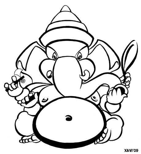 Cartoon: Ganesha (medium) by Xavi Caricatura tagged ganesha,india,hindu,god,deity,image,ganesha,indien,religion,elefant,glaube,gottheit,gott,karikatur,karikaturen