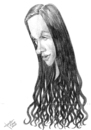 Cartoon: Alanis Morissette (small) by Xavi Caricatura tagged alanis,morissette,music,rock