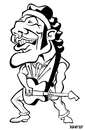 Cartoon: Bruce Springsteen (small) by Xavi Caricatura tagged the,boss,bruce,springsteen,music,rock,star