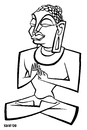 Cartoon: Buda Siddhartha Gautama (small) by Xavi Caricatura tagged buda siddhartha gautama drawing caricature