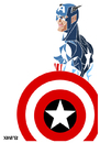 Cartoon: Captain America (small) by Xavi Caricatura tagged captain,america,capitan,marvel,comics,comic,superheroe,avengers,vengadores,drawing,dibujo