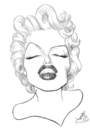 Cartoon: Marilyn Monroe (small) by Xavi Caricatura tagged marilyn,monroe,cinema,film,hollywood,star,actress