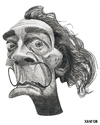 Cartoon: Salvador Dali (small) by Xavi Caricatura tagged salvador,dali,painter,culture,picture,abstract