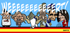 Cartoon: Spanish day 2012 (small) by Xavi Caricatura tagged spain,mariano,rajoy,crisis,wert,goat,crazy,country,juan,carlos,king