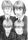 Cartoon: The Beatles 2001 (small) by Xavi Caricatura tagged the,beatles,music,caricature