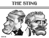 Cartoon: The Sting (small) by Xavi Caricatura tagged the,sting,robert,redford,paul,newman,cinema,film,hollywood,star,oscar
