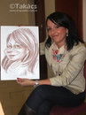 Cartoon: Live caricature (small) by takacs tagged live,caricature