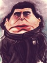 Cartoon: Diego Maradona (small) by Amauri Alves tagged chalks,hand