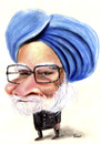 Cartoon: Manmohan Singh (small) by Amauri Alves tagged acrylic,paint,chalks