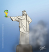 Cartoon: cristo (small) by riva tagged mundial,futbol,brasil,copa