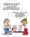 Cartoon: sensibilidad (small) by riva tagged espana,republica,monarquia,corrupcion,fraude,impunidad,censura