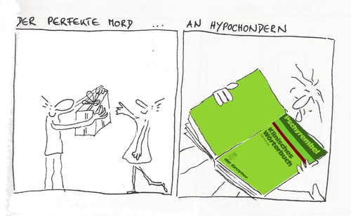 Cartoon: der perfekte mord (medium) by kika tagged hypochonder