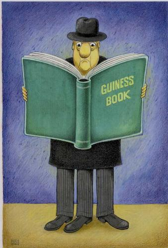 Cartoon: guiness book (medium) by ciosuconstantin tagged book,
