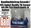 Cartoon: Bald in der Zeitung 14.3.2014 (small) by gore-g tagged gez,rundfunkbeitrag,rtl,reality,tv