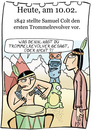 Cartoon: 10. Februar (small) by chronicartoons tagged colt,indianer,trommelrevolver,wilder,westen,cartoon