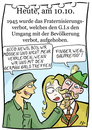 Cartoon: 10. Oktober (small) by chronicartoons tagged fraternisierung,weltkrieg,besatzer,soldat,cartoon