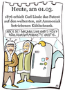 Cartoon: 1.März (small) by chronicartoons tagged kühlschrank,eskimo,cartoon