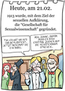Cartoon: 21. Februar (small) by chronicartoons tagged klapperstorch,aufklärung,sex,cartoon