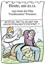 Cartoon: 21. November (small) by chronicartoons tagged frankenstein,cartoon
