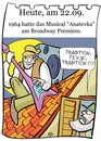 Cartoon: 22. September (small) by chronicartoons tagged anatevka,musical,tevje,fiddler,on,the,roof,cartoon