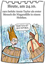 Cartoon: 24. Oktober (small) by chronicartoons tagged niagarafälle,stunt,wasserfall,cartoon
