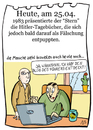 Cartoon: 25. April (small) by chronicartoons tagged hitler,stern,kujau,tagebücher,fälschung