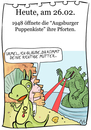 Cartoon: 26. Februar (small) by chronicartoons tagged augsburger,puppenkiste,urmel,godzilla,cartoon