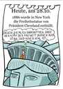 Cartoon: 28.Oktober (small) by chronicartoons tagged freiheitsstatue,usa,cartoon