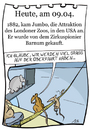 Cartoon: 9. April (small) by chronicartoons tagged jumbo,zirkus,england,usa,ratte,schiff