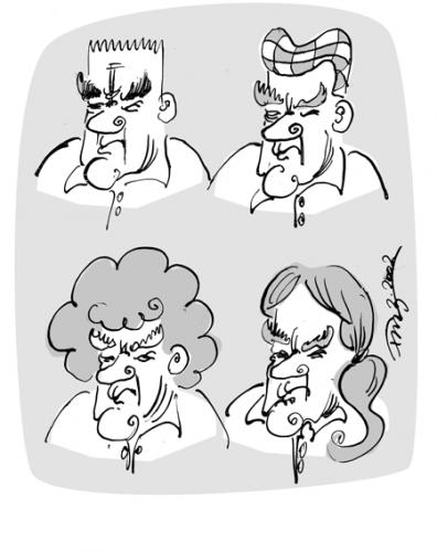 Cartoon: Haarprobleme (medium) by 2001 tagged schröder,hair,