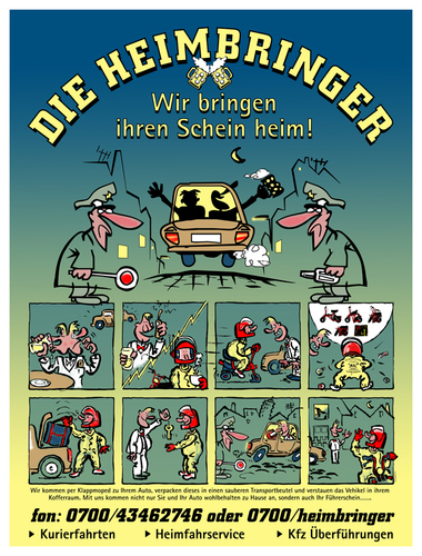 Cartoon: Heimbringer (medium) by zenundsenf tagged heimbringen,moped,führerschein,zenundsenf