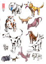Cartoon: hunde 1 (small) by zenundsenf tagged hund dog zenf zensenf zenundsenf walter andi